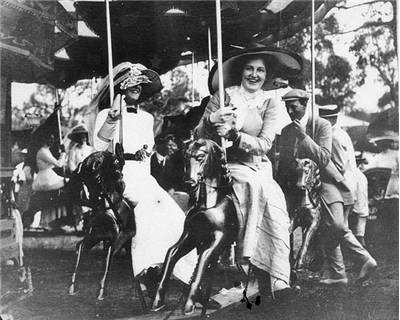 Picture Of A Merry Go Round At The Deepwater Races 1910