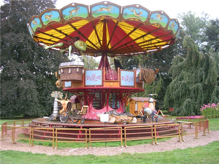 Picture Of Antique Style Carousel In Switzerland
