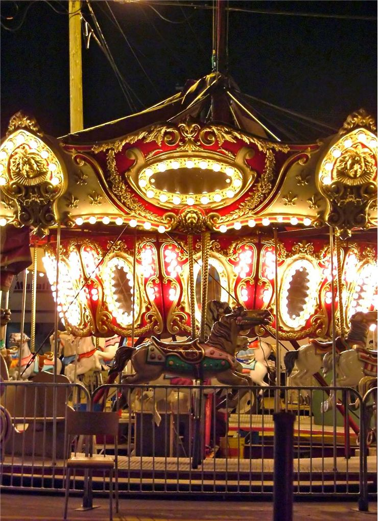 Picture Of Carousel At Night