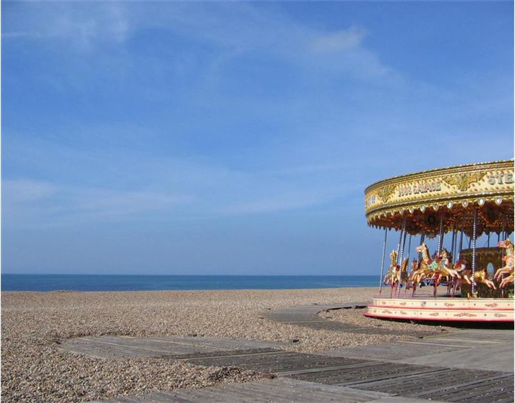 Picture Of Carousel On Brighton Beach