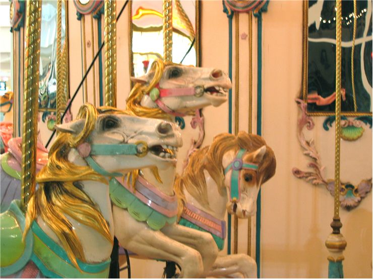Picture Of Horses On The Carousel In Georgia