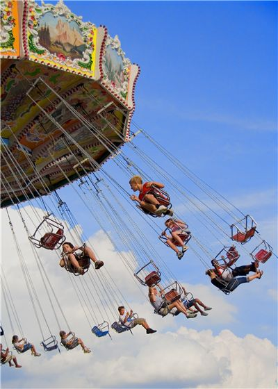 Picture Of Swing Ride At The Ohio State Fair